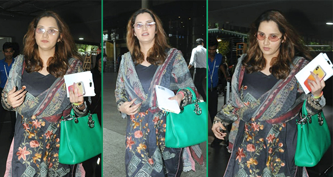 Mom-to-be Sania Mirza Papped Flaunting Her Baby Bump At The Airport