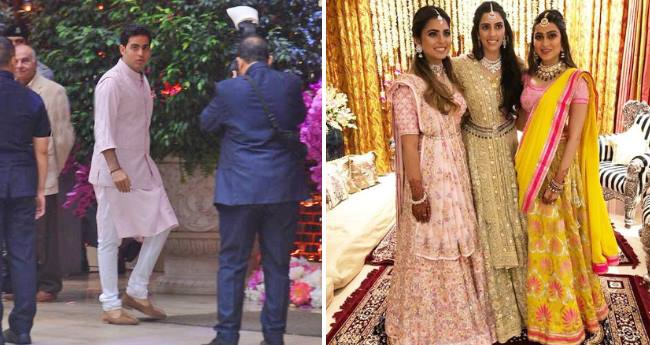 Pictures of Akash Ambani and Shloka Mehta from Pre-Engagement Function