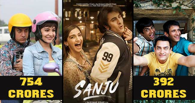 Sanju can be a Game-changer for Ranbir according to the BO Collections of Rajkumar Hirani's Films