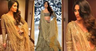 Kareena Kapoor again proved she rules like a queen in golden attire at fashion week