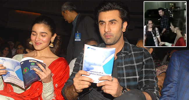 Ranbir Kapoor shows Love to Alia Bhatt as he asked if he could drop her home