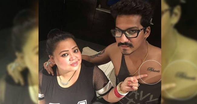 Couple Goals: Haarsh get a tattoo of Bharti Singh's name as her Birthday Gift