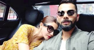 Virat Kohli's lady love Anushka Sharma says a lot in pic by wrapping her arms around him