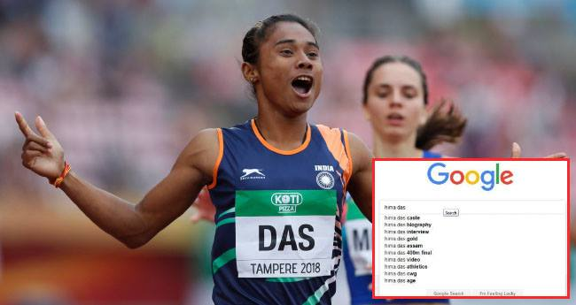 Instead of celebrating Hima Das' success, People are searching her Caste On Google