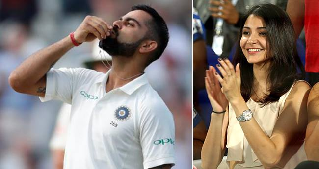 Virat Kohli canoodles his ring and showed it to Anushka after making a century against England