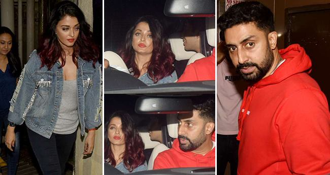 Aishwarya Rai Bachchan and Abhishek Bachchan Go Out For A Movie Date